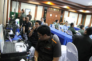 demo1-2  Len Demonstrasikan Alternatif Solusi Interoperability & Integrasi Sistem Komunikasi Kepada TNI demo1 2
