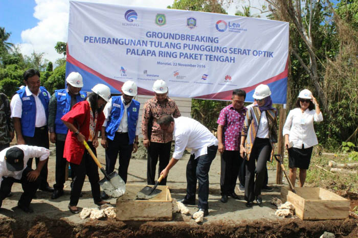 Ground Breaking Proyek Palapa Ring Paket Tengah 2  Ground Breaking Proyek Palapa Ring Paket Tengah Ground Breaking Proyek Palapa Ring Paket Tengah 2