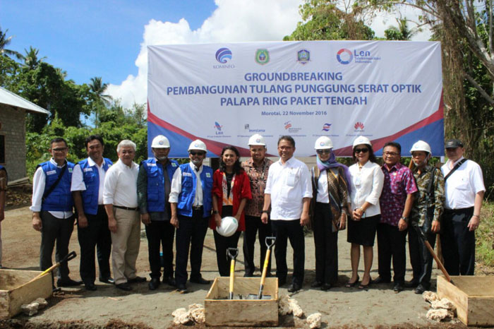 Ground Breaking Proyek Palapa Ring Paket Tengah  Ground Breaking Proyek Palapa Ring Paket Tengah Ground Breaking Proyek Palapa Ring Paket Tengah